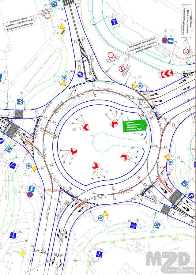 Oglądasz zdjęcia z artykułu: Rondo im. G.Herlinga-Grudzińskiego - zasada jazdy po rondzie turbinowym