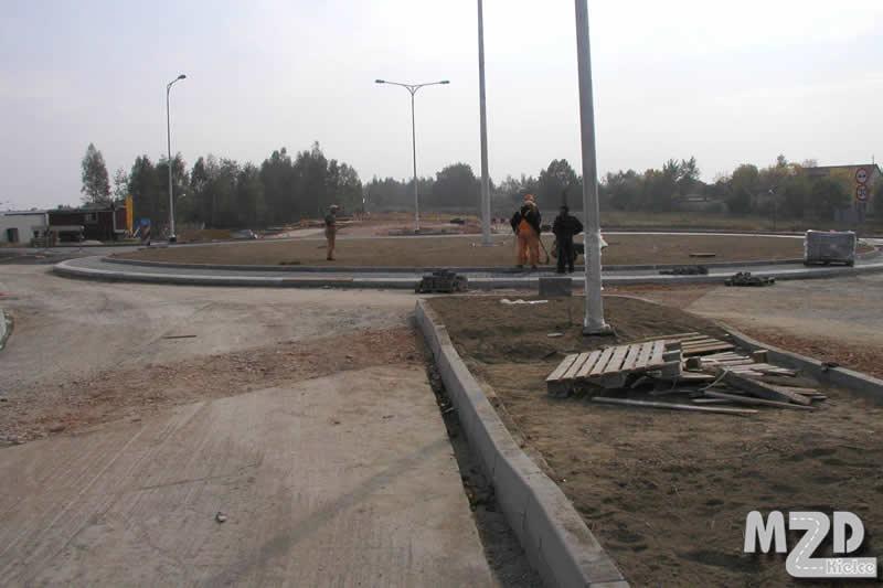 Oglądasz zdjęcia z artykułu: Budowa węzła drogowego prz ul  Krasickiego