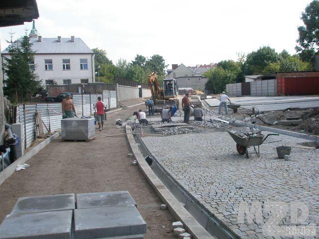 Oglądasz zdjęcia z artykułu: Rewitalizacja Śródmieścia Kielc - budowa ul. Nowosilnicznej (odcinek od ul. Warszawskiej ...