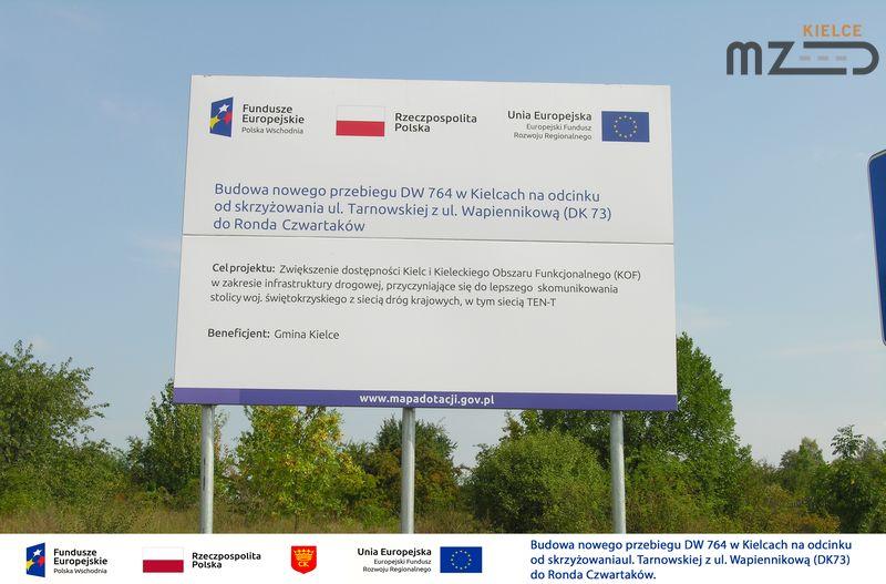 Oglądasz zdjęcia z artykułu: Budowa nowego przebiegu DW 764 w Kielcach (ul. Rtm. Witolda Pileckiego)